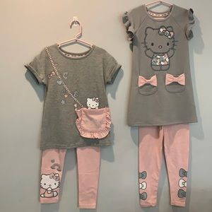 Hello kitty girls set of 2 outfit size 4